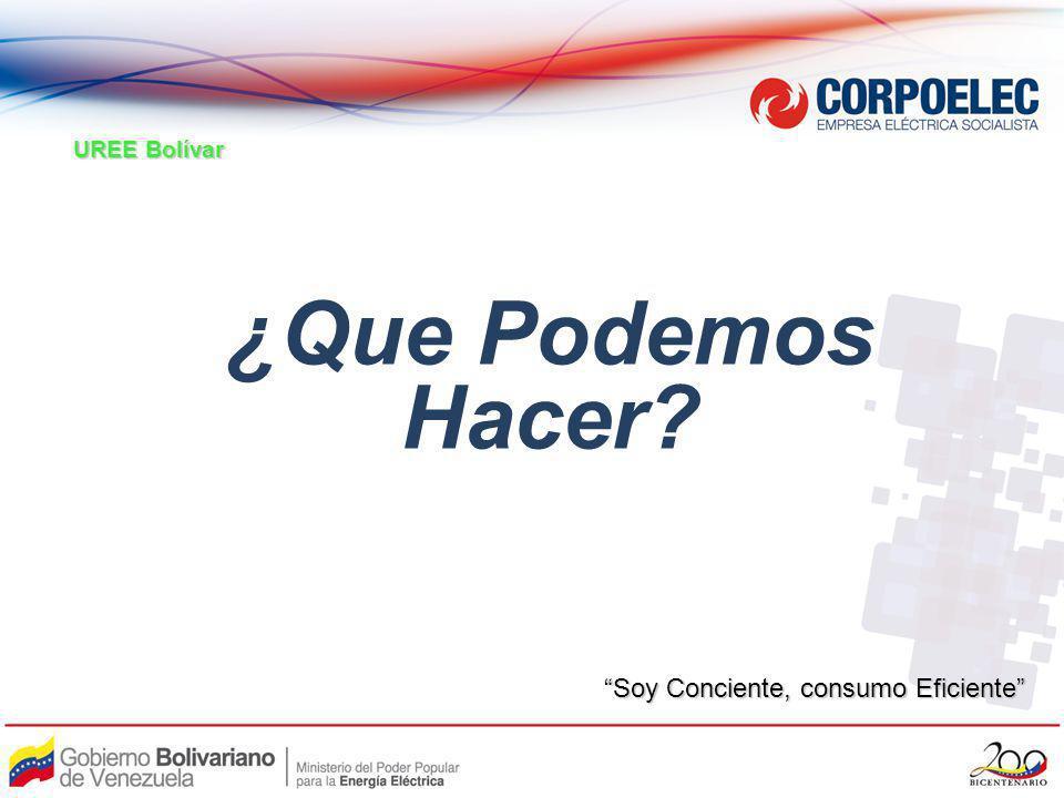 UREE Bolívar ¿Que Podemos Hacer Soy Conciente, consumo Eficiente