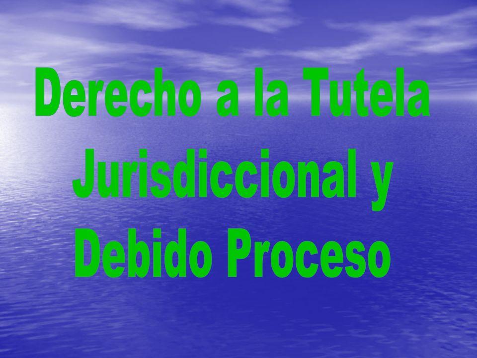 Derecho a la Tutela Jurisdiccional y Debido Proceso