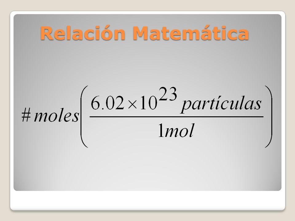Relación Matemática