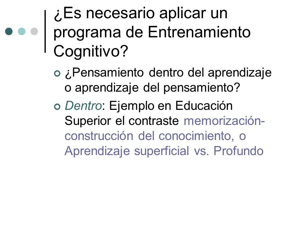 ¿Es necesario aplicar un programa de Entrenamiento Cognitivo