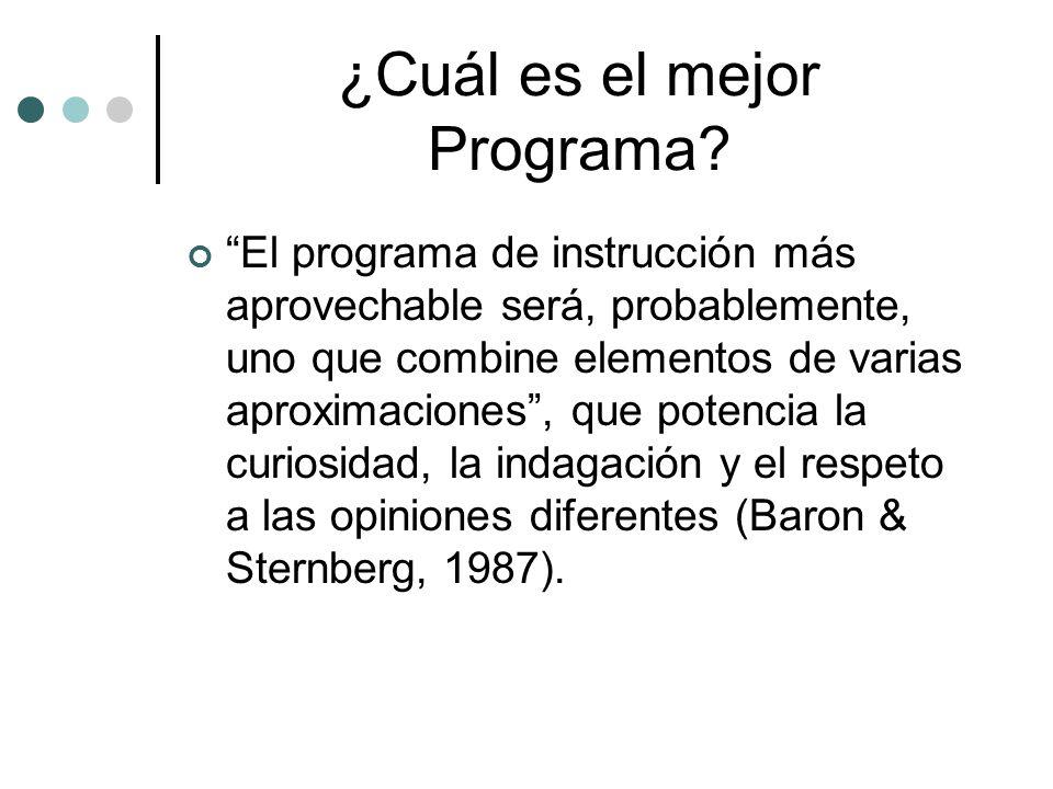¿Cuál es el mejor Programa