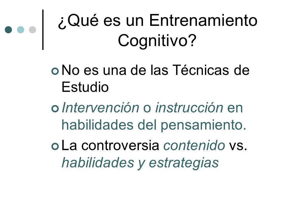 ¿Qué es un Entrenamiento Cognitivo