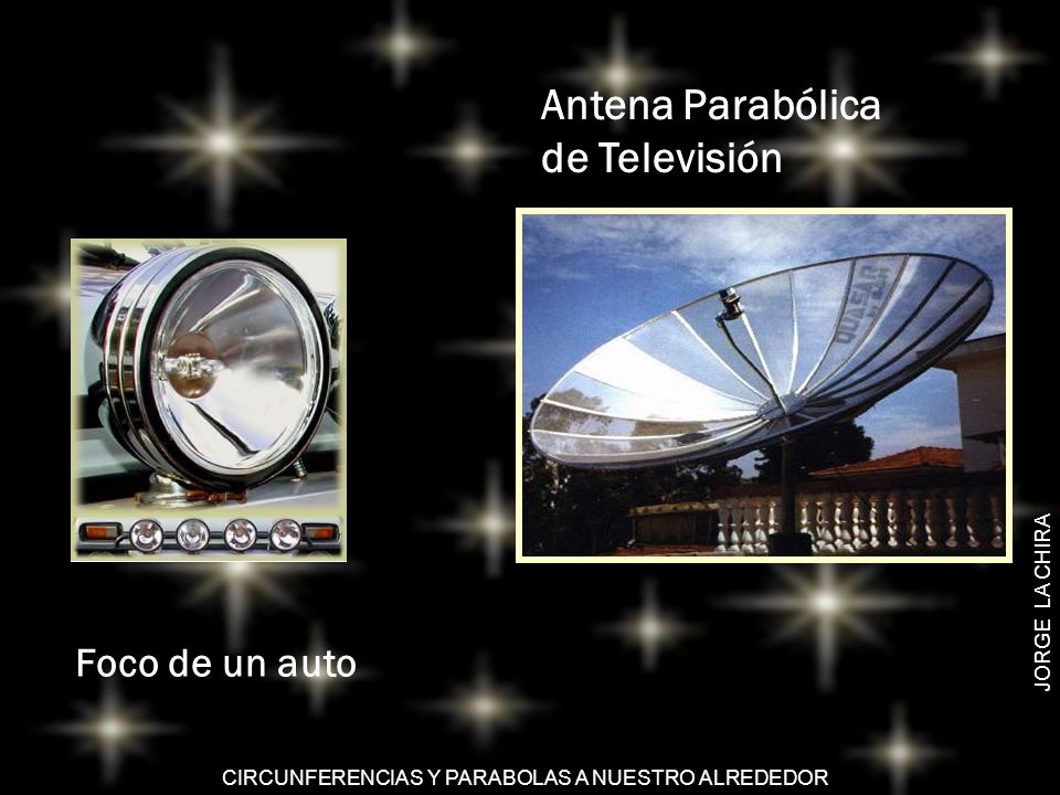Antena Parabólica de Televisión Foco de un auto