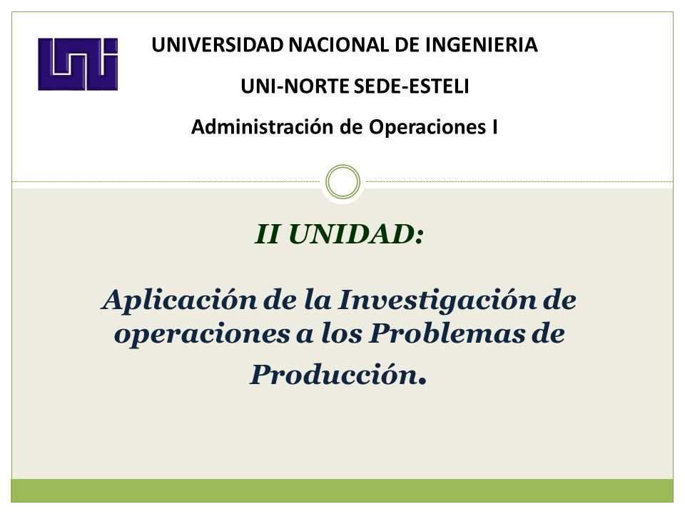 UNIVERSIDAD NACIONAL DE INGENIERIA