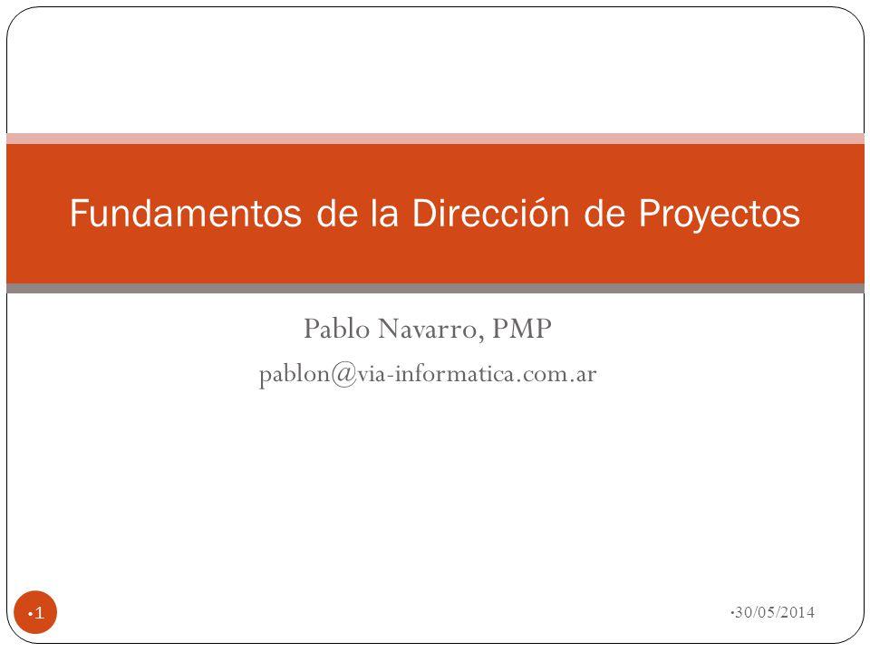 Fundamentos de la Dirección de Proyectos
