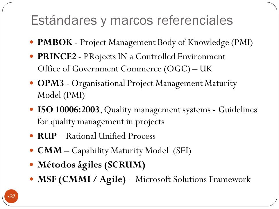 Estándares y marcos referenciales