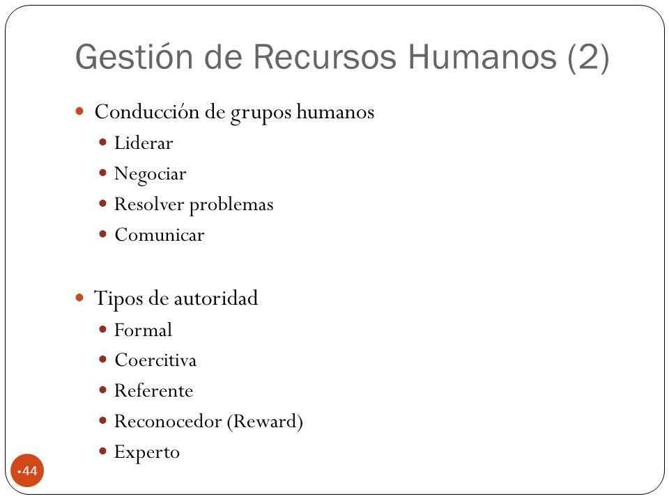 Gestión de Recursos Humanos (2)