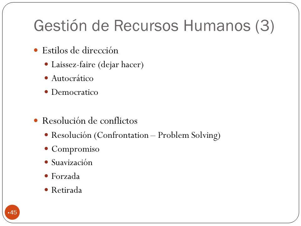 Gestión de Recursos Humanos (3)