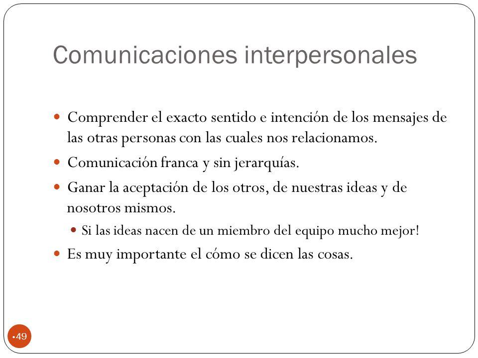 Comunicaciones interpersonales