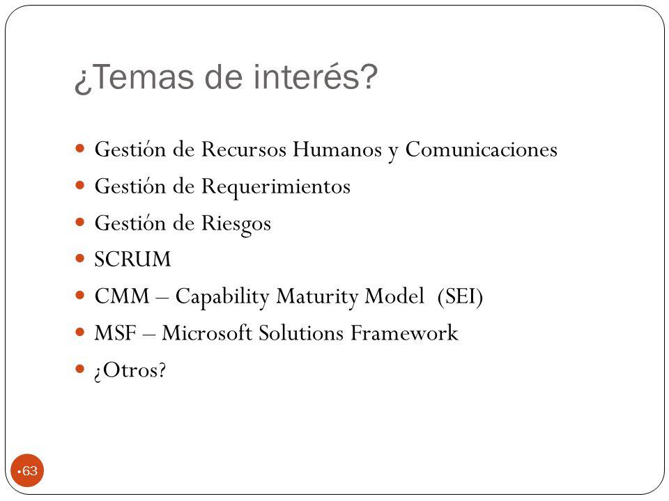 ¿Temas de interés Gestión de Recursos Humanos y Comunicaciones