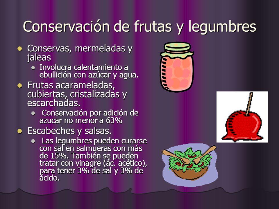 Conservación de frutas y legumbres