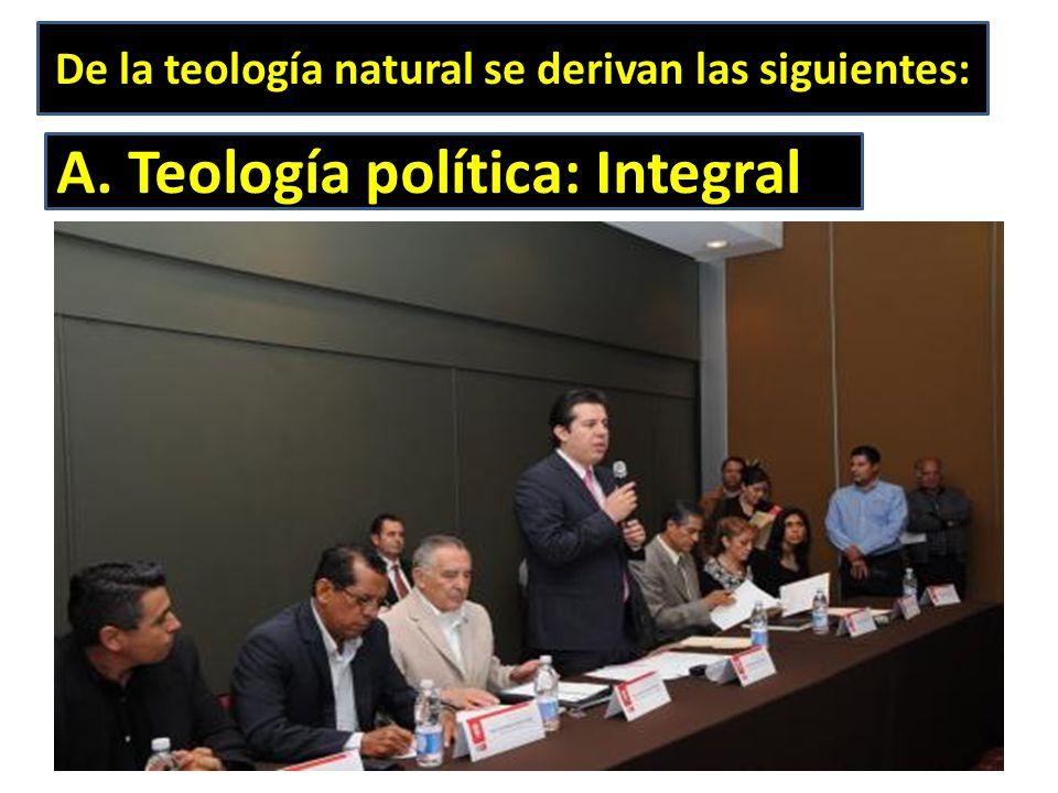 De la teología natural se derivan las siguientes:
