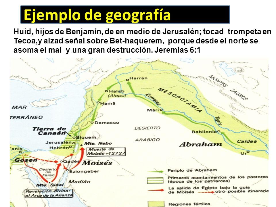 Ejemplo de geografía