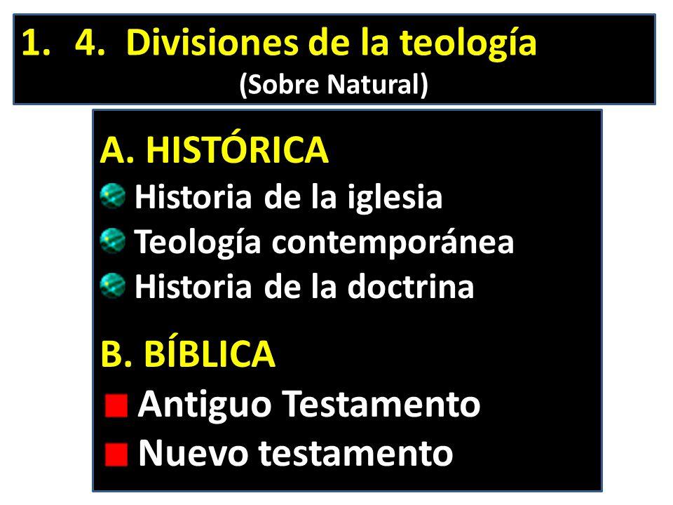 4. Divisiones de la teología
