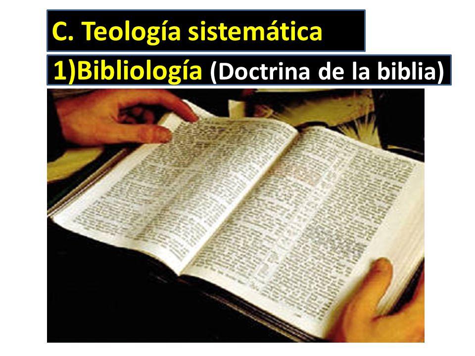 Bibliología (Doctrina de la biblia)