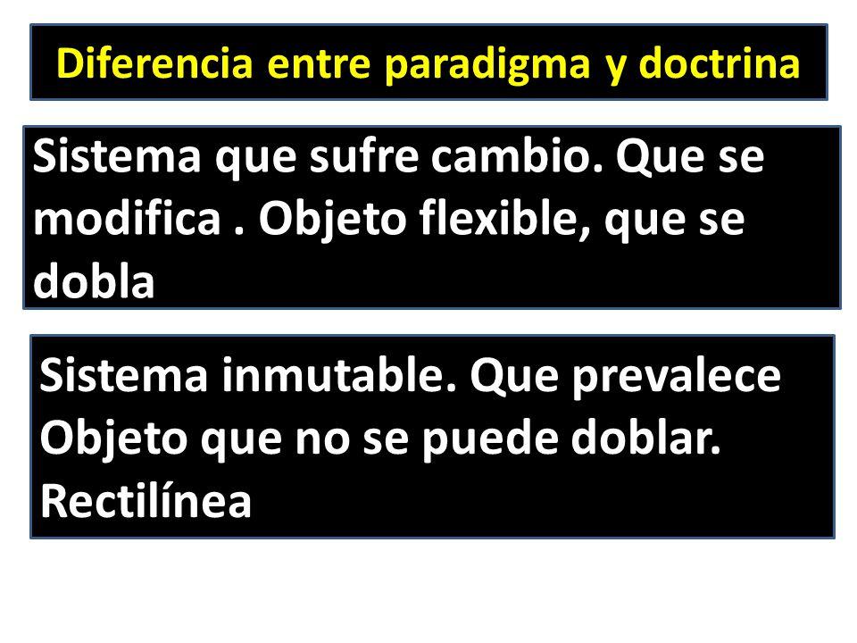 Diferencia entre paradigma y doctrina