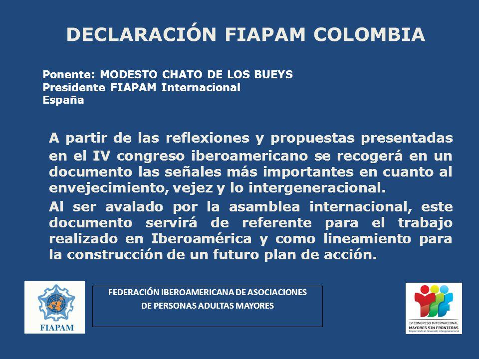 DECLARACIÓN FIAPAM COLOMBIA