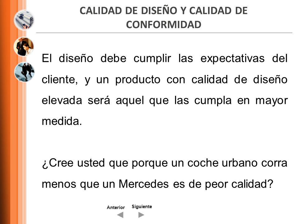 CALIDAD DE DISEÑO Y CALIDAD DE CONFORMIDAD