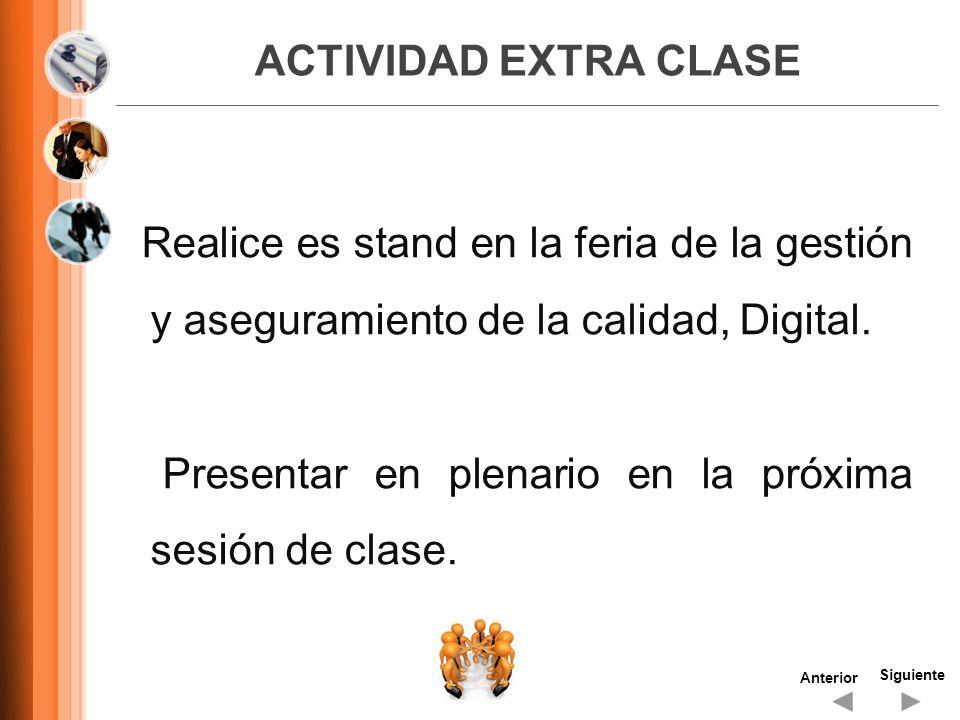 Presentar en plenario en la próxima sesión de clase.