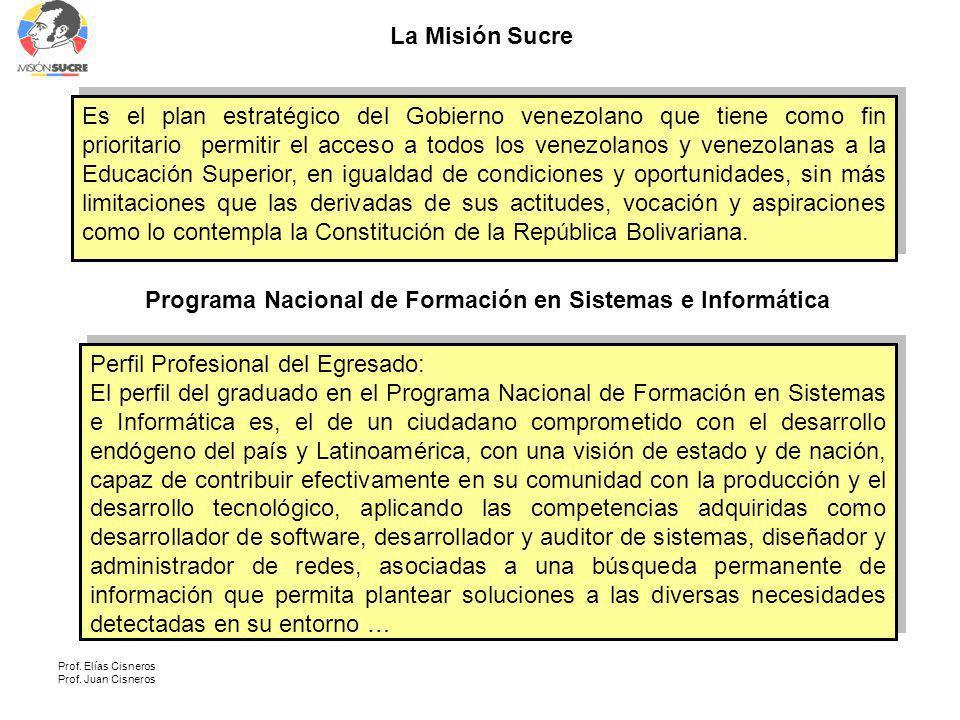 Programa Nacional de Formación en Sistemas e Informática