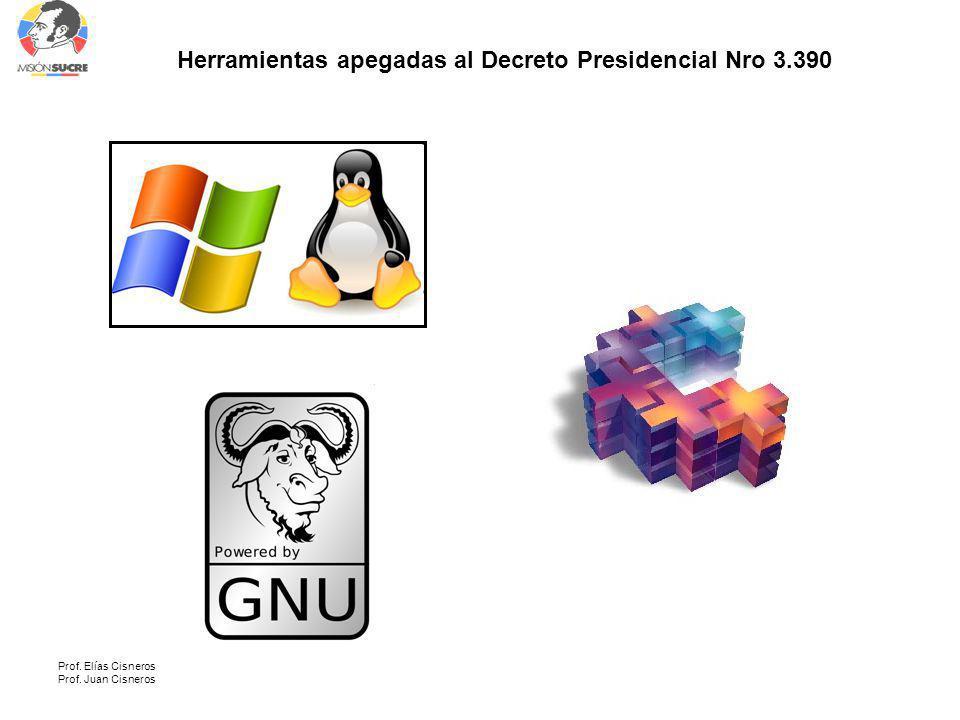 Herramientas apegadas al Decreto Presidencial Nro 3.390