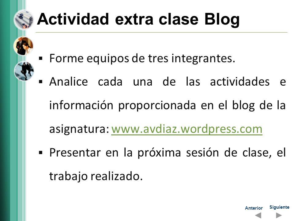 Actividad extra clase Blog
