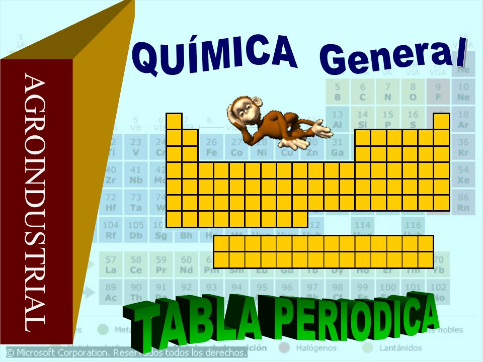 QUÍMICA General AGROINDUSTRIAL TABLA PERIODICA