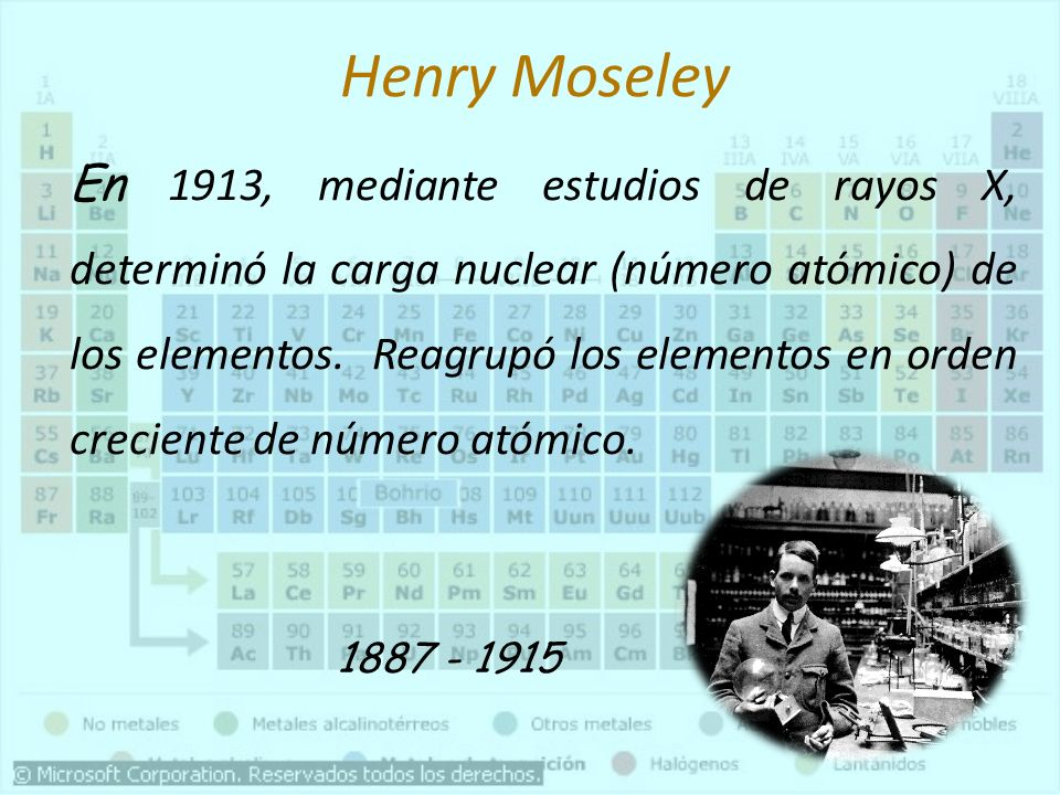 Qumica general agroindustrial tabla periodica ppt video online henry moseley urtaz Gallery