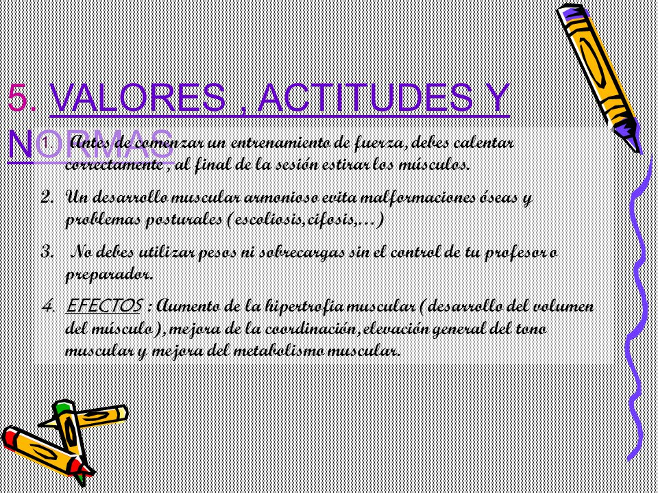 5. VALORES , ACTITUDES Y NORMAS