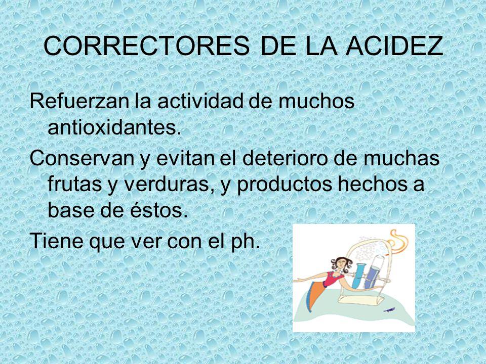CORRECTORES DE LA ACIDEZ