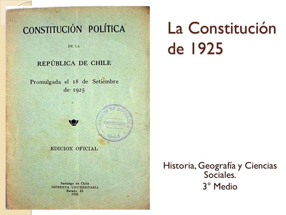 Historia, Geografía y Ciencias Sociales. 3° Medio