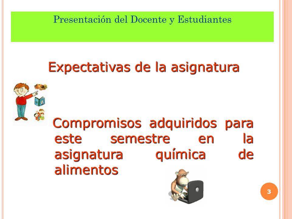 Presentación del Docente y Estudiantes