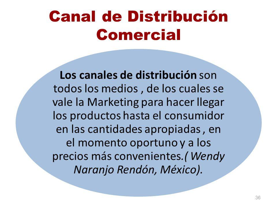 Canal de Distribución Comercial