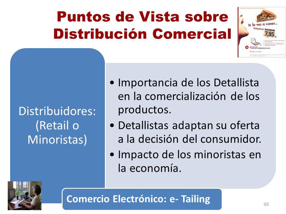 Puntos de Vista sobre Distribución Comercial