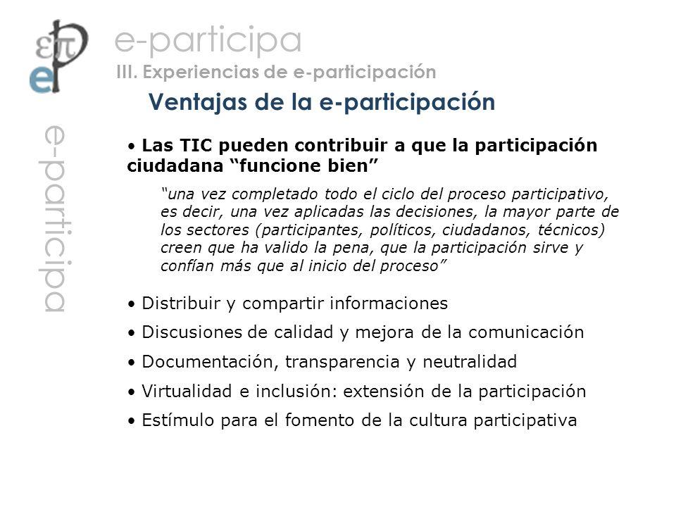 Ventajas de la e-participación