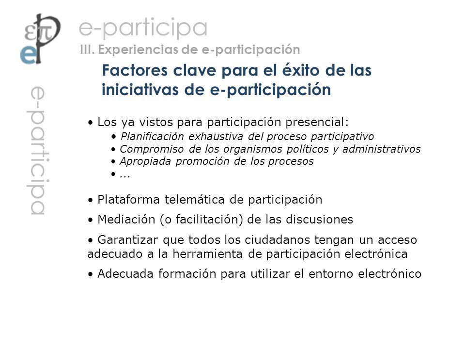 Factores clave para el éxito de las iniciativas de e-participación