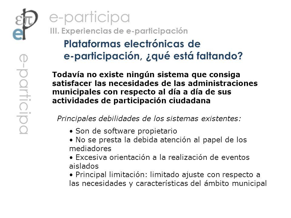 Plataformas electrónicas de e-participación, ¿qué está faltando