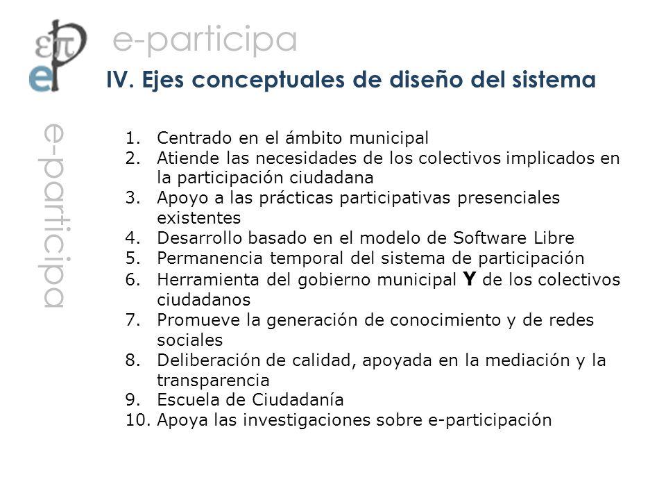 IV. Ejes conceptuales de diseño del sistema