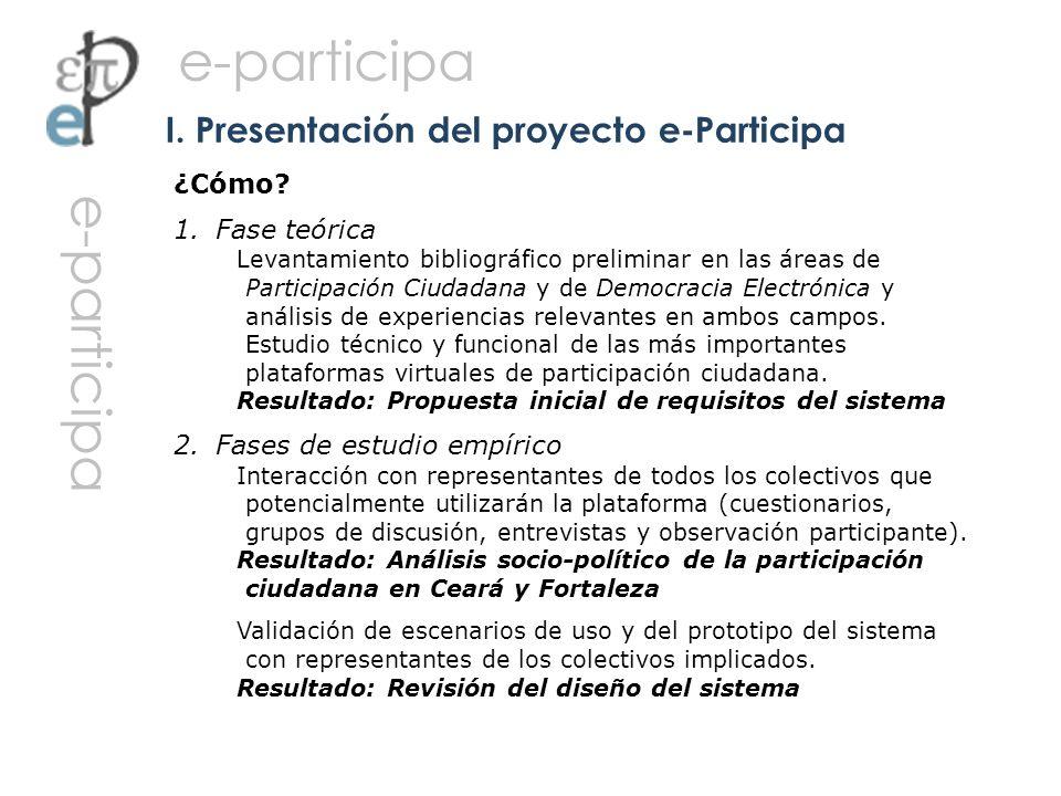 I. Presentación del proyecto e-Participa