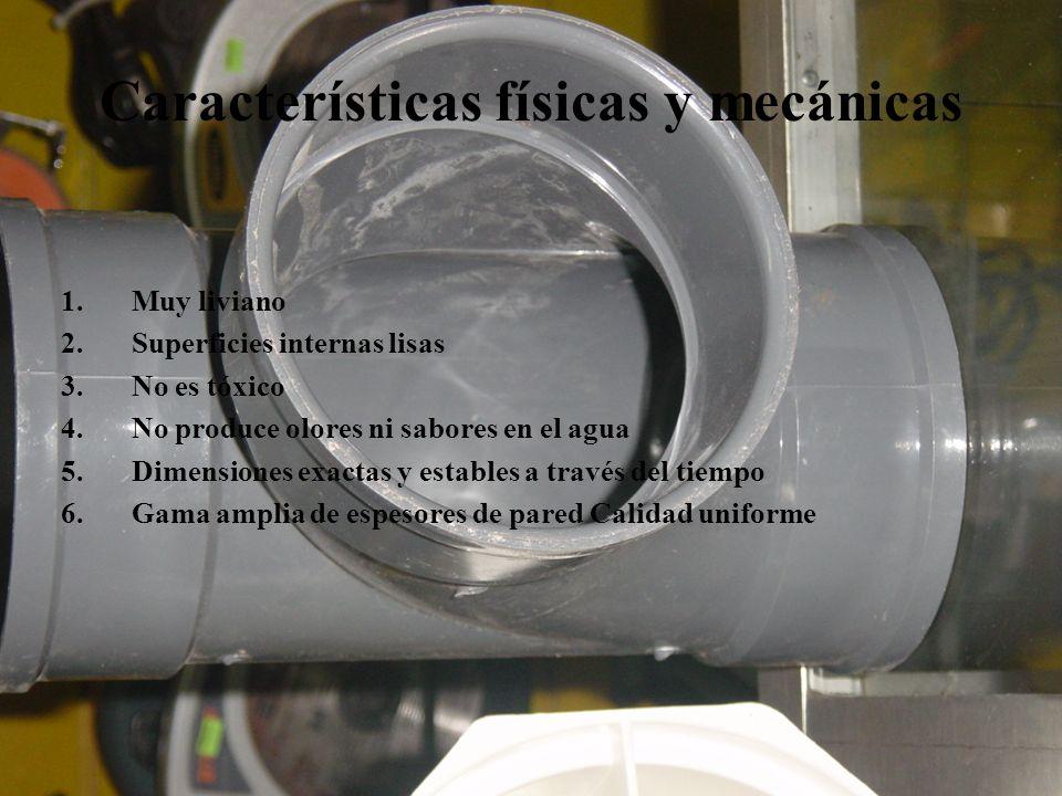 Características físicas y mecánicas
