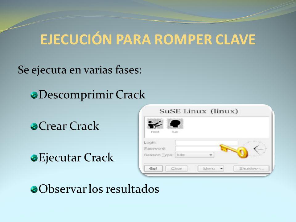EJECUCIÓN PARA ROMPER CLAVE