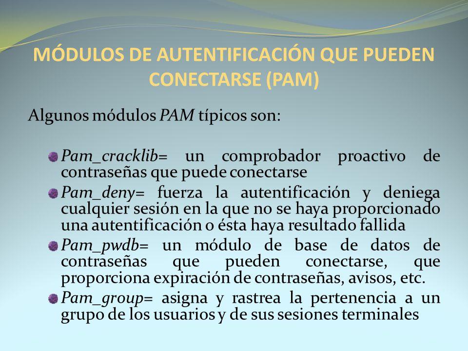MÓDULOS DE AUTENTIFICACIÓN QUE PUEDEN CONECTARSE (PAM)