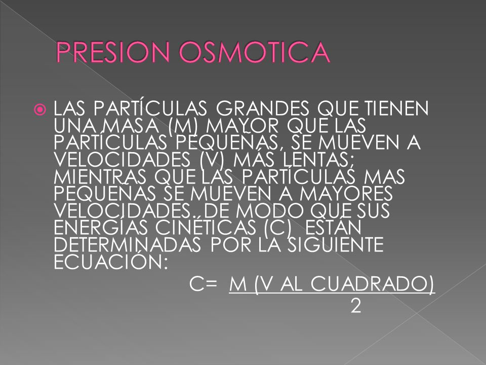 PRESION OSMOTICA