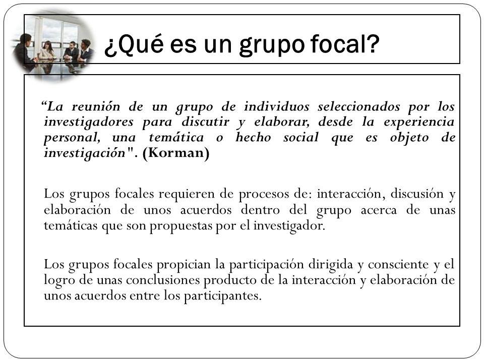 ¿Qué es un grupo focal