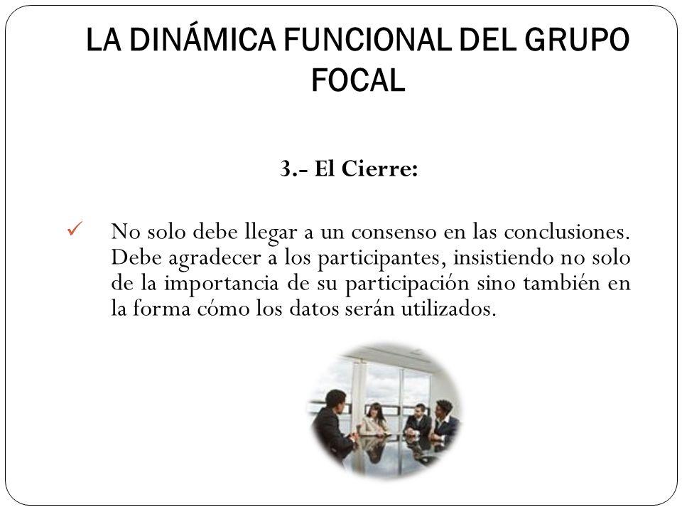 LA DINÁMICA FUNCIONAL DEL GRUPO FOCAL