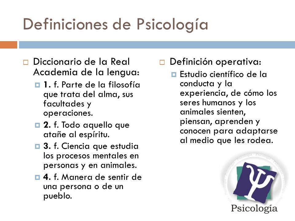 Definiciones de Psicología