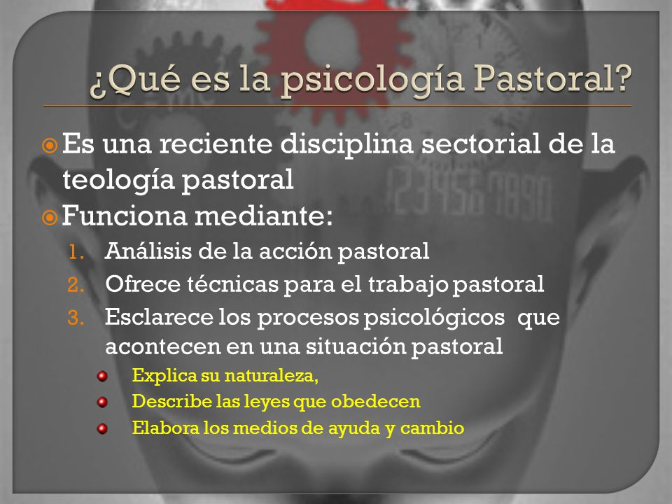 ¿Qué es la psicología Pastoral