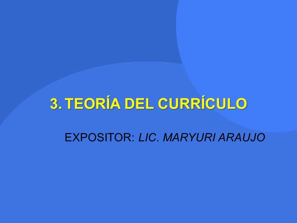 EXPOSITOR: LIC. MARYURI ARAUJO
