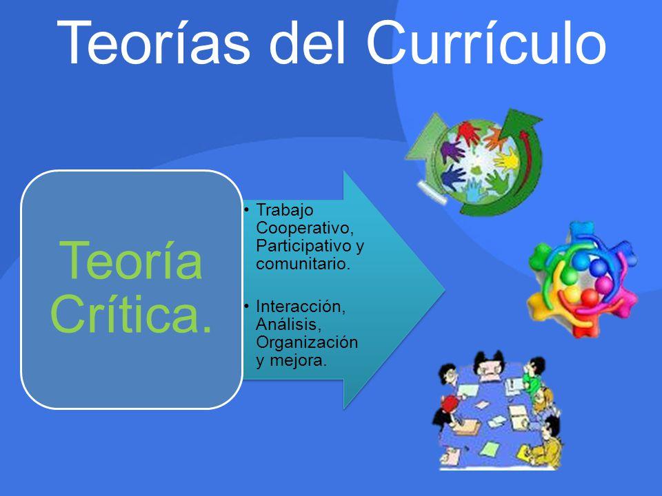 Teorías del Currículo Teoría Crítica.