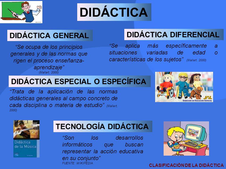 CLASIFICACIÓN DE LA DIDÁCTICA